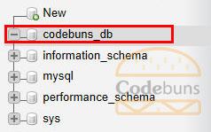 phpmyadmin database tree