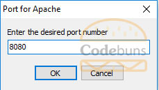 desired port number for Apache