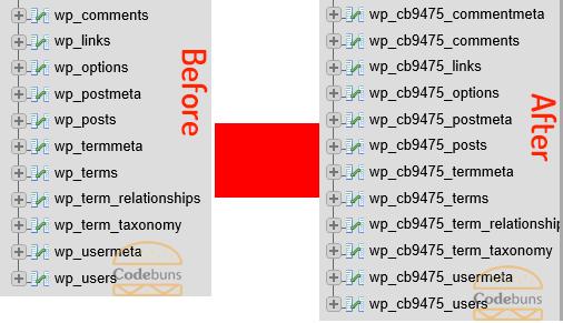 database prefix for wordpress tables