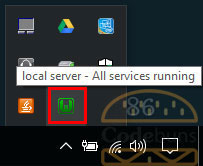 wampserver green icon in the system tray