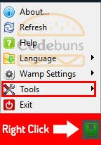 wampserver right click tools