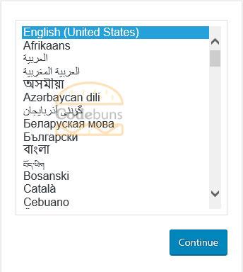 wordpress select appropriate language