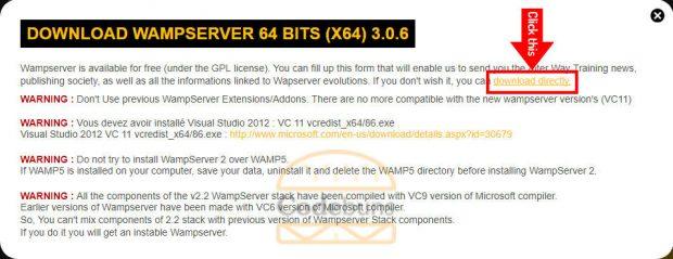 wampserver download popup